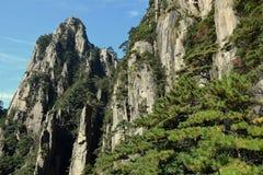 Huangshan gula berg, i det Anhui landskapet i Kina Arkivbild