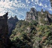 Huangshan gula berg, i det Anhui landskapet i Kina Arkivfoto