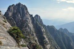 Huangshan gula berg, i det Anhui landskapet i Kina Royaltyfri Fotografi