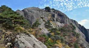 Huangshan gula berg, i det Anhui landskapet i Kina Royaltyfria Bilder