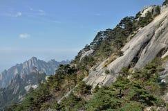 Huangshan gula berg, i det Anhui landskapet i Kina Royaltyfri Bild