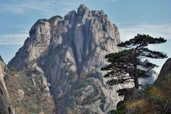 Huangshan gula berg, i det Anhui landskapet i Kina Royaltyfria Foton