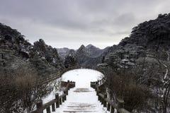 Huangshan gulingberg Kina Royaltyfri Foto