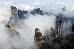 Huangshan (gult berg) Arkivfoto