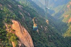 Huangshan kabeltorn, oerhört porslin arkivbild