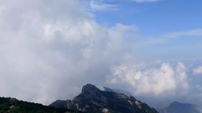 Huangshan. Mountain in east china stock video footage