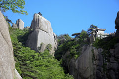Huangshan mountain scenery Royalty Free Stock Photo