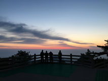 Huangshan Mountain at sunrise Royalty Free Stock Photo