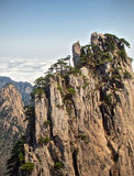 Huangshan mountains china. Huangshan mountains in Anhui province in China Royalty Free Stock Image
