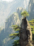 Huangshan mountains china. Huangshan mountains called Yellow mountains as well is in anhui province china Royalty Free Stock Photo