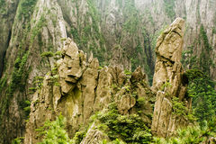 Huangshan, mountains in china, stone sculptures royalty free stock photos
