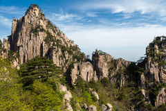 Huangshan Mountains. Landscapes of the Huangshan Mountain in China Royalty Free Stock Photography