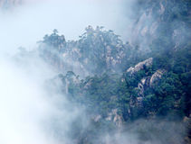The huangshan moutain in fog Royalty Free Stock Images