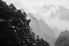 Huangshan Scenery. Huangshan is located in the south of Anhui Province in China, since ancient times, to the odd pine, strange rocks, clouds, hot springs world Royalty Free Stock Image