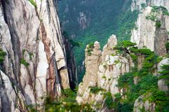 huangshan sikt Arkivbild
