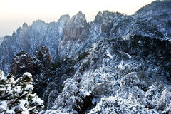 Huangshan snow Royalty Free Stock Photo