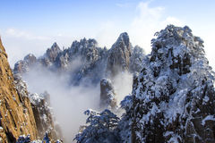 Huangshan snow Royalty Free Stock Image