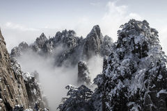 Huangshan snow Stock Photo