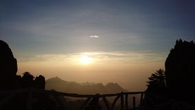 Huangshan Sunrise royalty free stock images