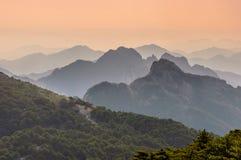 Huangshan Sunsets στοκ εικόνα με δικαίωμα ελεύθερης χρήσης