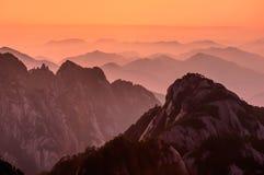 Huangshan Sunsets στοκ φωτογραφίες