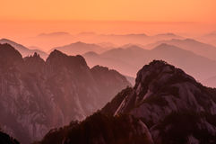 Huangshan Sunsets Stock Photos