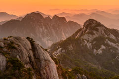 Huangshan Sunsets Royalty Free Stock Image