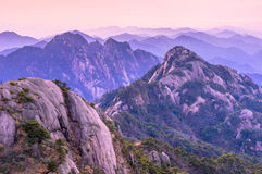 Huangshan Sunsets royalty free stock images