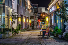 Huangshan Tunxi City, China - circa September 2015: Streets of Old Town Huangshan by  night Royalty Free Stock Image