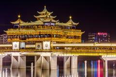Huangshan Tunxi stad, Kina - circa September 2015: Wenfeng bro i den Huangshan staden, Kina Fotografering för Bildbyråer