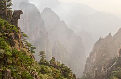 Huangshan valley. Huangshan mountains in Anhui province in China Royalty Free Stock Photo