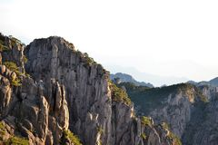 Huangshan yellow mountain in Anhui, China, unesco world heritage stock photo
