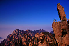Huangshan(yellow) Mountain cliff Royalty Free Stock Image