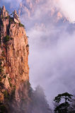Huangshan(yellow) Mountain cliff Royalty Free Stock Images