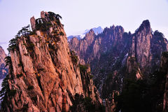 Huangshan(yellow) Mountain cliff Stock Photos