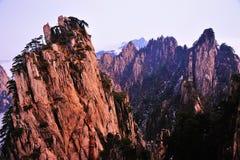 Huangshan(yellow) Mountain cliff Stock Photos