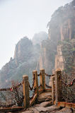 Huangshan(yellow) Mountain cliff Stock Images