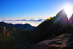 Huangshan(yellow) Mountain sunrise Royalty Free Stock Images