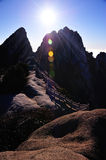 Huangshan(yellow) Mountain sunrise Stock Image