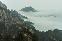 Huangshan. Yuntao shore Royalty Free Stock Image