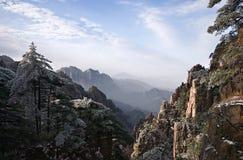 huangshan zimy krajobrazu Obrazy Stock