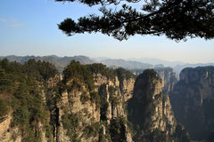 Huangshi Village. China's Hunan Province Zhangjiajie Forest Park royalty free stock images