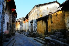Huangyao antyczny miasteczko w porcelanie fotografia stock