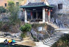 Huangyao antyczny miasteczko w porcelanie zdjęcia royalty free