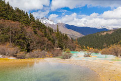 Huanlong national park in Sichuan Province, China stock image