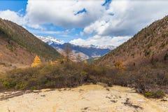 Huanlong nationalpark i det Sichuan landskapet, Kina arkivfoto
