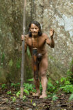 Huaorani Indigenous Hunter In Amazon Basin Stock Images
