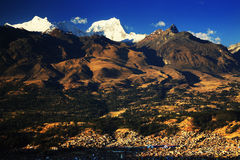 Huaraz στο BLANCA Cordiliera Στοκ Φωτογραφίες
