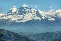 Huascaran峰顶,秘鲁 库存照片