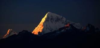 Huascaran峰顶 图库摄影